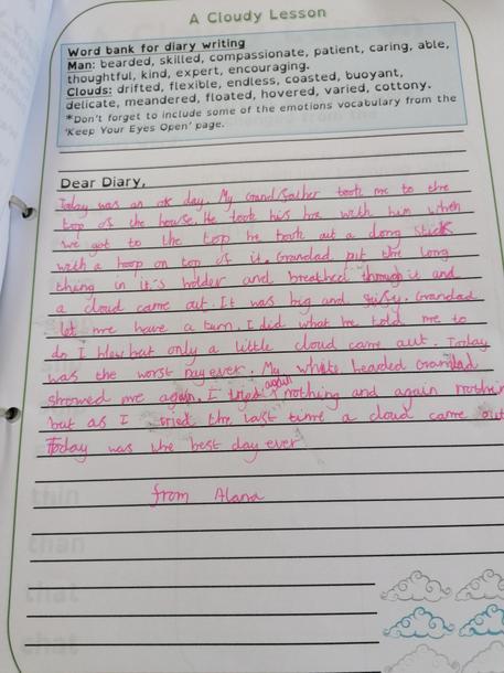 Alana's cloudy diary
