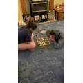 Draughts and chess - sibling fun!