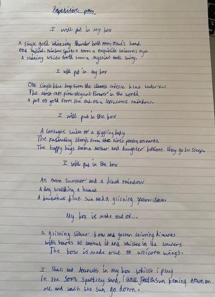 Evie's poem