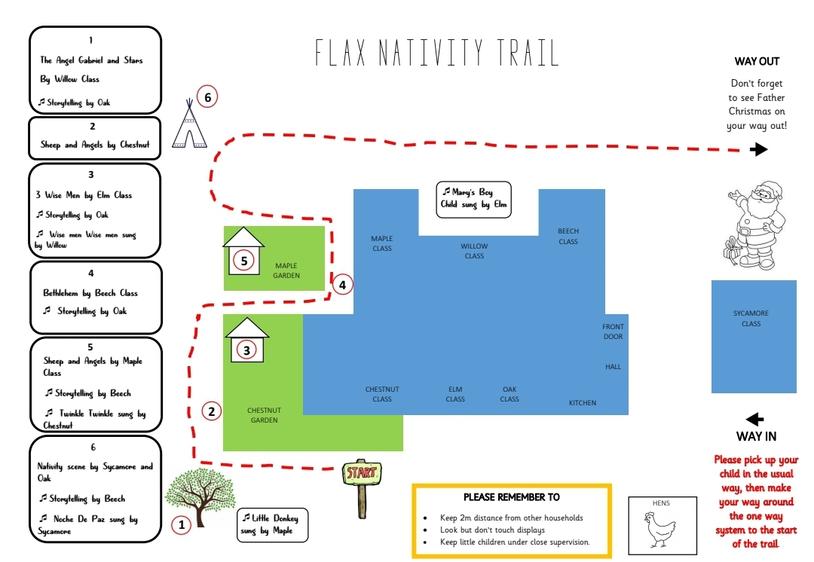 Flax Bourton Primary C of E Nativity Trail Map