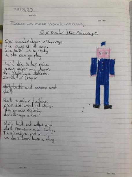 Our Teacher Likes Minecraft