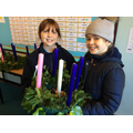 Two proud wreath makers...