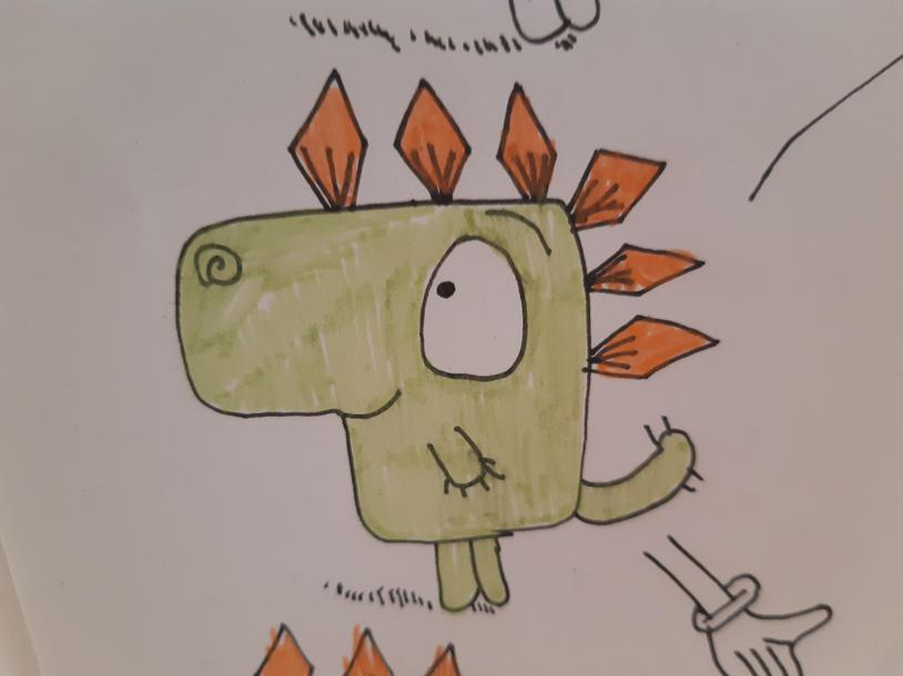 Sam's Rob Biddulph-esque illustration