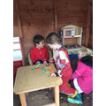 A lovely mud pie in the play house!