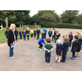 Maths - playing the incy wincy spider countinggame