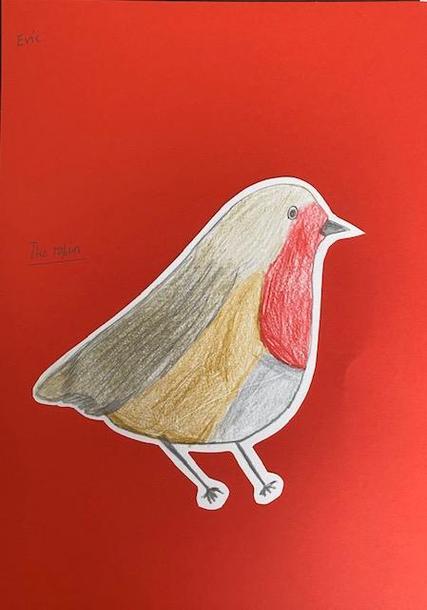 Evie's excellent robin art!