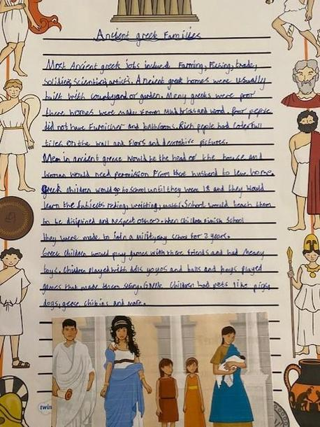 Evie' Greek research