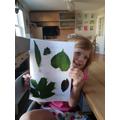 E's lovely leaf poster