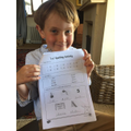 H has been working hard on his ie spelling