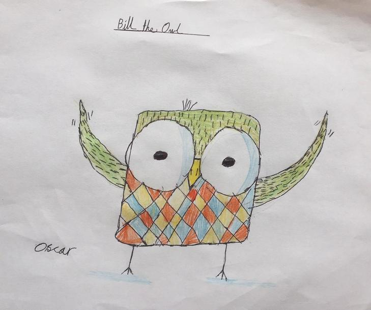 Oscar's cartoon owl