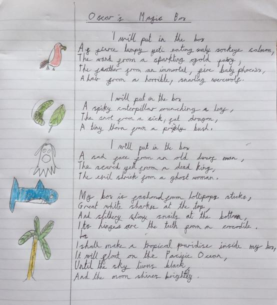 Oscar's Magic Box Poem