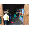 Using the Huff Puff Shed at play time