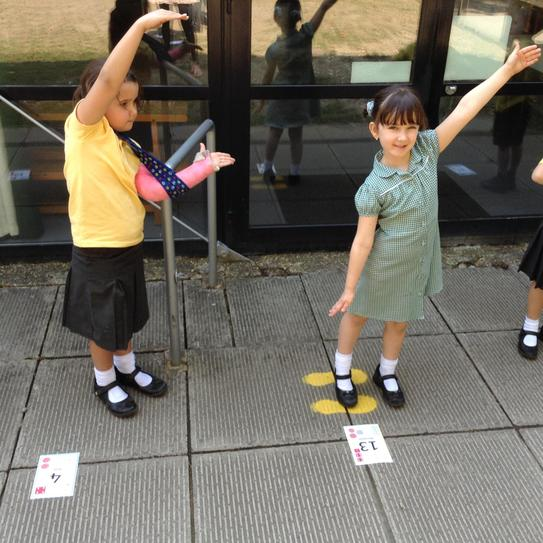 We used our arms to show Greater than and Less than.