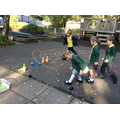 Year 1: Using addition to work out skittles scores