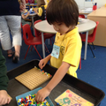 Creating patterns using pegs