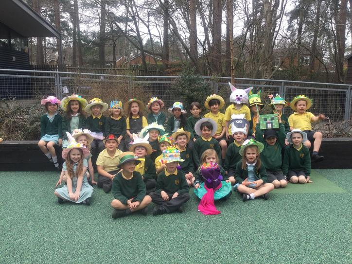 We had lots of fun parading in our Easter Hats. We really enjoyed our cakes afterwards!
