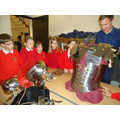 Examining the armour a Roman Soldier would wear