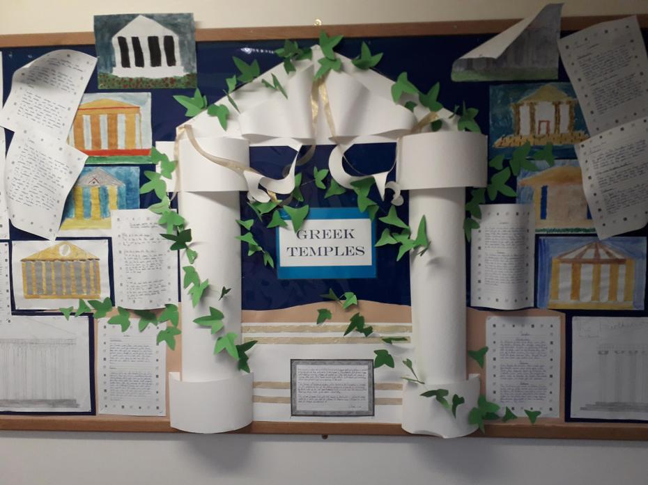Greek temples in year 5.