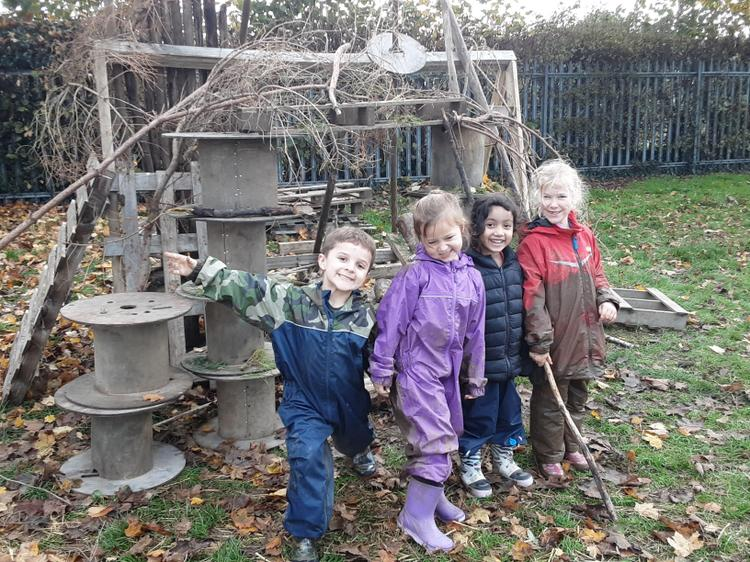 They have created an Autumn home for our bugs and insects to keep them safe