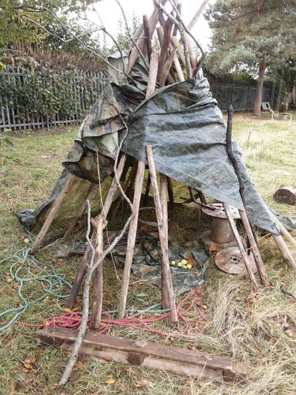 Over time the teepee got added to and used in a variety of ways