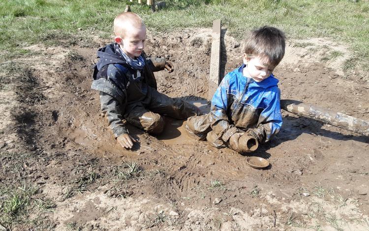 We found the mud pit
