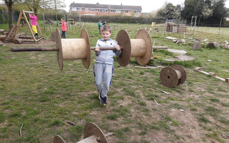 A group set themselves a challenge of weight lifting