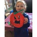 Making halloween crafts!
