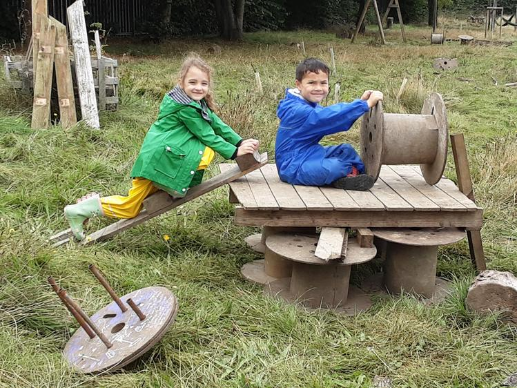 The children made the their own pirate ship