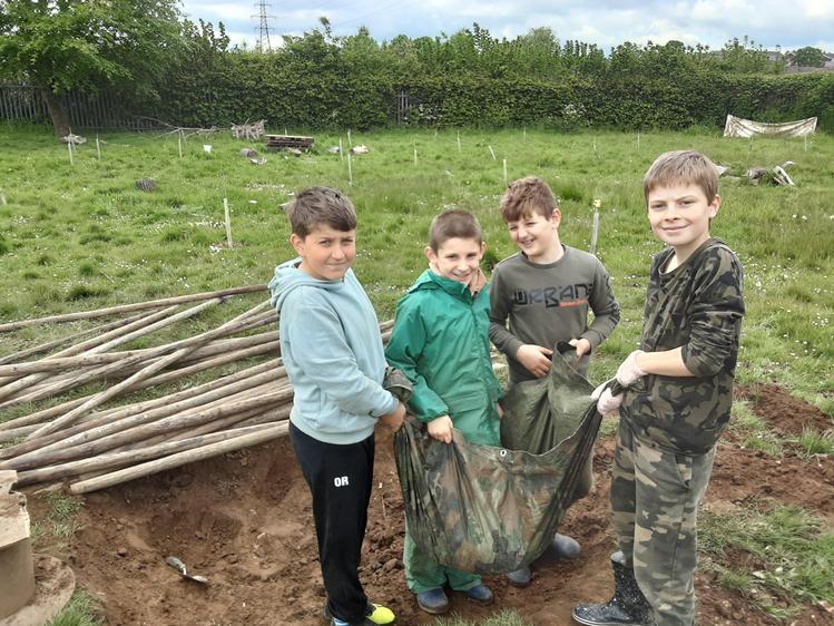 Problem solving, moving mud using a tarp