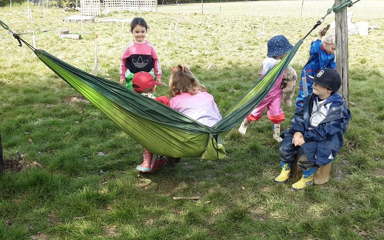 Sharing the hammock