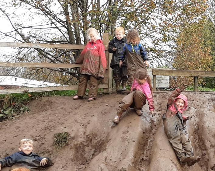 Mud slide fun