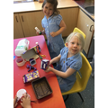 The children in Reception created London Landmarks out of recyclable materials.