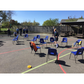 Class 5/6 created their own 'body' outside to visual the physical effects of air pollution