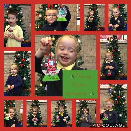 Making decorations for the community wishing tree