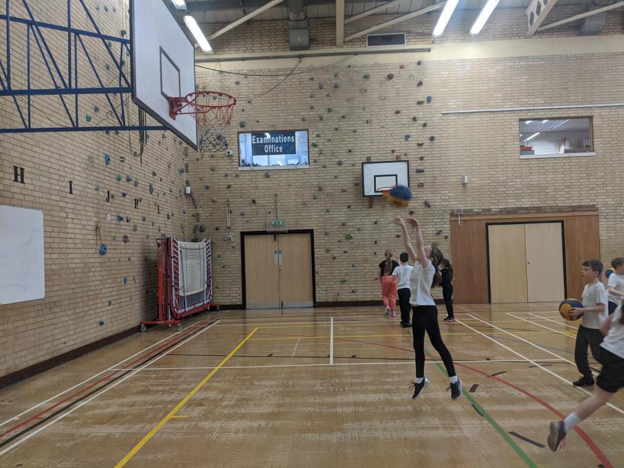 Pine play basketball!