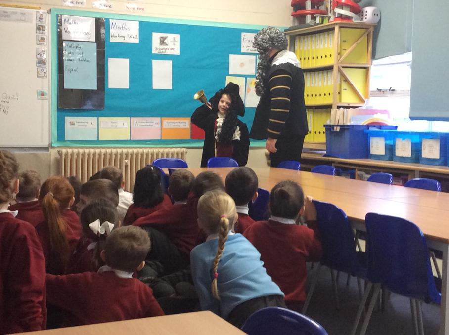 Samuel Pepys visits Maple Class!