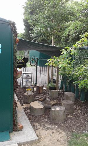 Shaded areas in Nursery garden