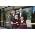 Councillor Tildesley, Mr Fletcher & Year 6 Pupils