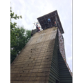 Charlotte and Hannah conquer their fear of the giant tower!