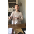 Using sign language and learning a song