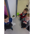 The children tried lots of ways to open it.