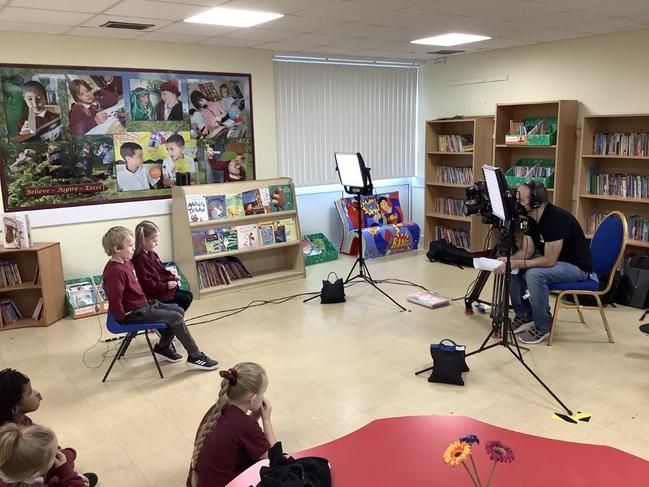 The BBC were in filming children from Year 1 to Year 6 for BBC Bytesize