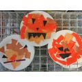 We made paper plate pumpkins!