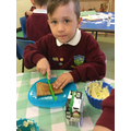 We are learning how to use our knife and fork!