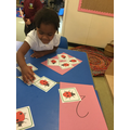 We can count the dots on the ladybirds.