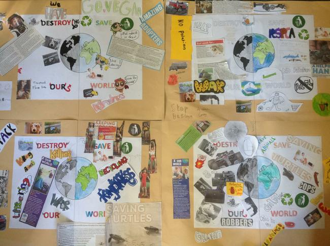 Year 5 collage on the environment