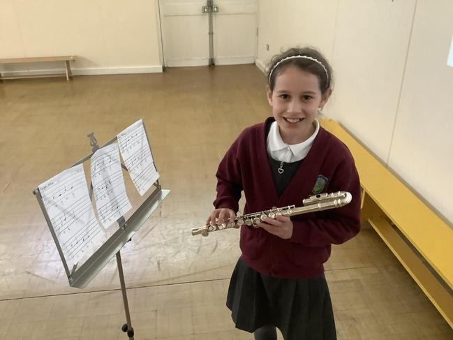 Kennedy composed and performed Rushing Water. Year 5 and Year 6 play the flute