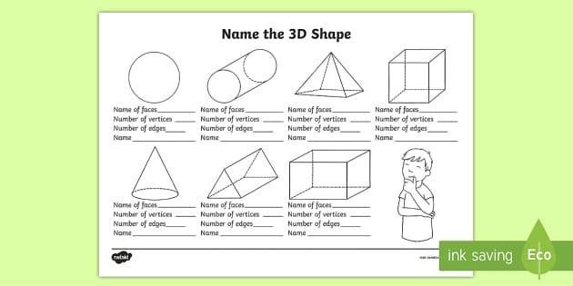 3D shapes and their properties