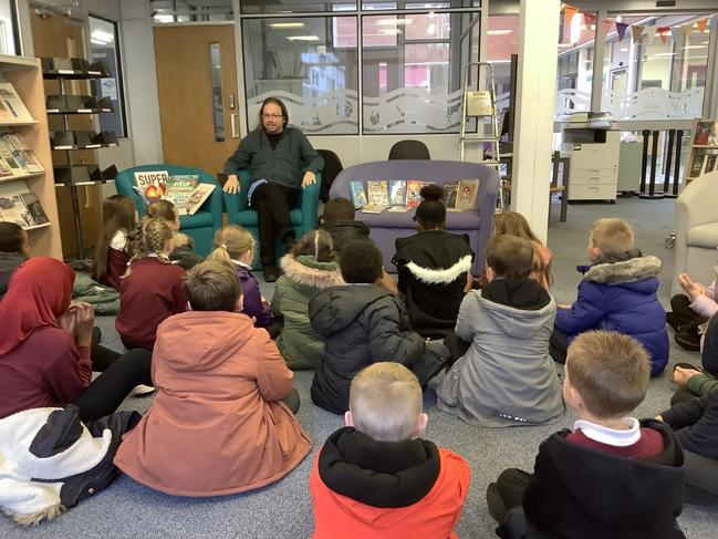 Years 4,5 and 6 visited the local library