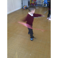 We used ribbons to pretend to be fireworks in PE.
